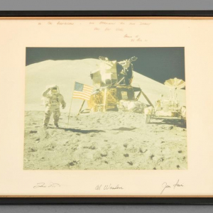 NASA Apollo 15 Mission Photo, équipage/astronautes signé